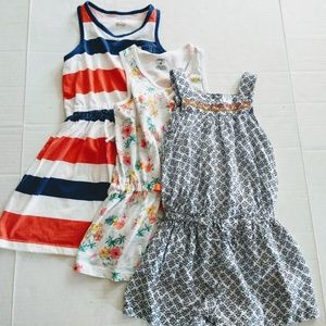 Bundle of 3 Carter's Dress or Romper Girls Size 6